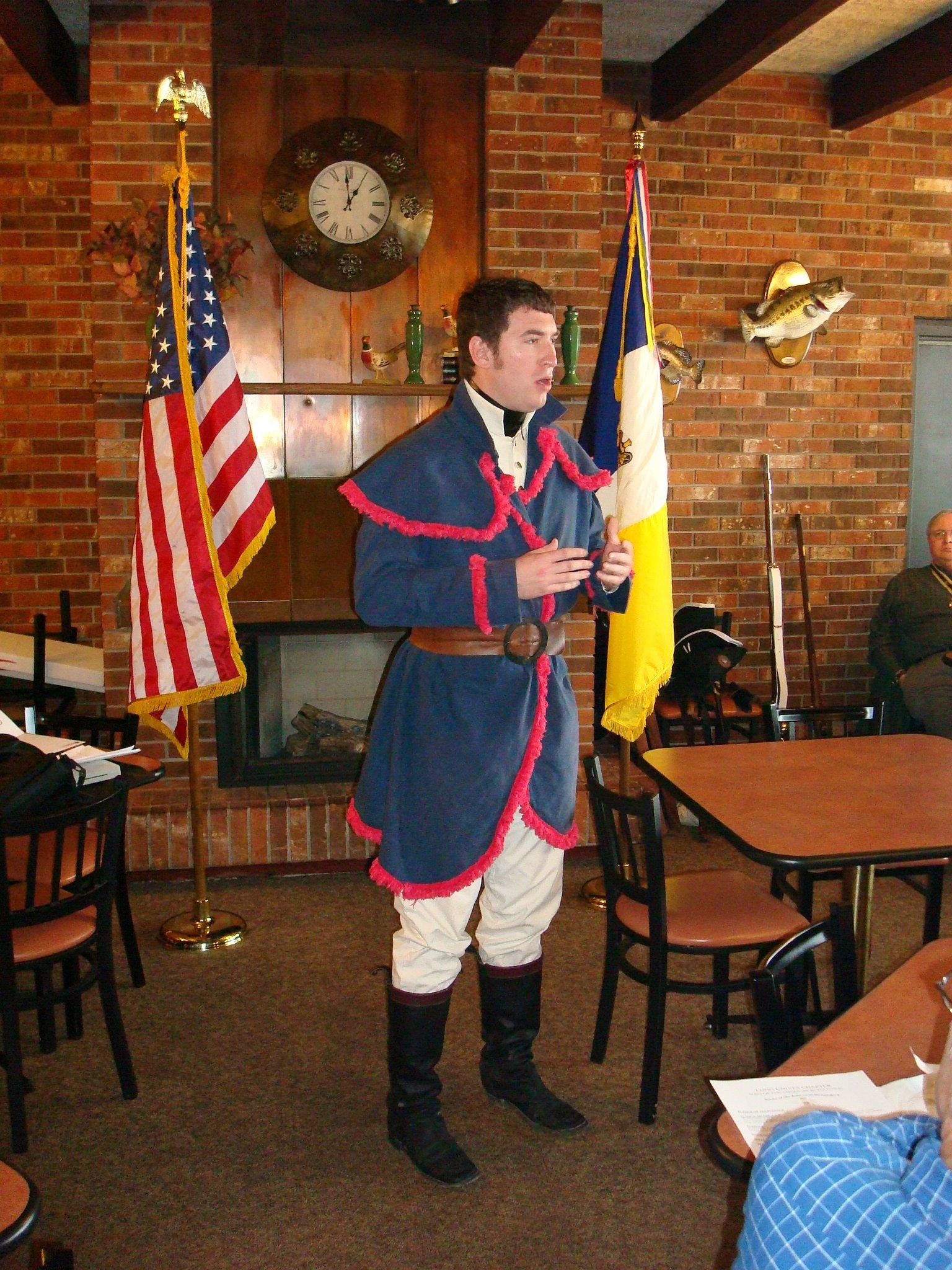 ... 17th Illinois Territorial Rangers, their formation and role in the  establishment of the Illinois Territory. He discussed the War of 1812 in  Illinois, ...